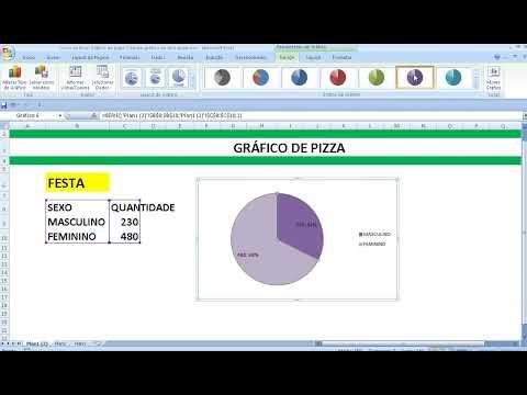 Curso de Excel Gráfico de pizza Criando gráfico do tipo circular Gráfico de Setores