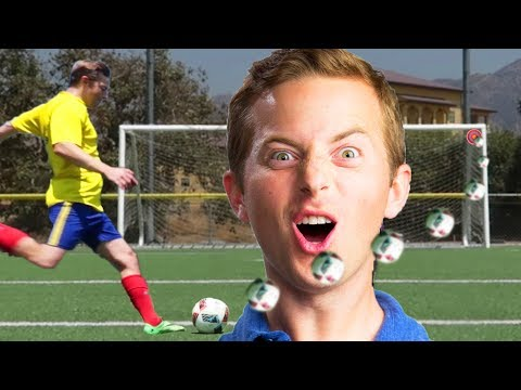 Ned Tries Famous Soccer Trick Shots • The Try Vlog