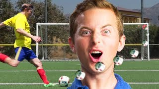 Ned Tries Famous Soccer Trick Shots • The Try Vlog by : BuzzFeedVideo