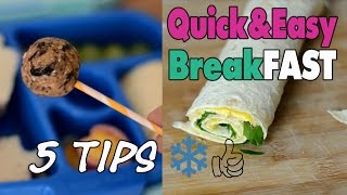 5 Quick and easy breakFAST recipes you can freeze | mamiblock kiDchen