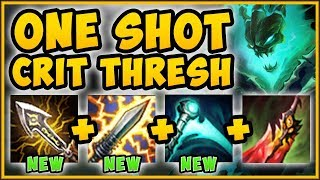 WTF?? ONE CRIT THRESH AUTO ATTACK = ONE KILL?? ONE SHOT CRIT THRESH TOP SEASON 9! League of Legends