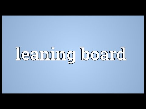 Header of leaning board