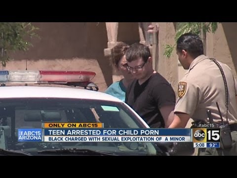 Teen arrested for child porn