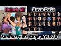 HOT!!! Summertime Saga Unlock All Girls v0.15.30 Save Data | All Scene All Cookie Jar's