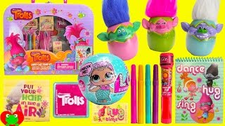 Trolls Poppy Carry Case Stamps with LOL Doll Surprises