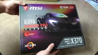MSI X370 GAMING PRO CARBON Unboxing