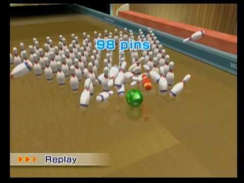 Wii Sports Resort-Bowling- 100 Pin Game: Pin Dropper