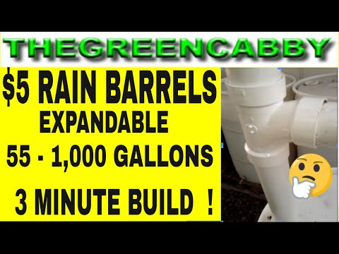 5 Dollar RAIN BARRELS 55 gallons to 1000 gallons
