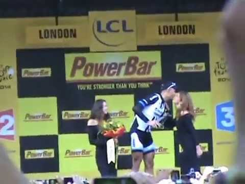 TOUR de FRANCE Stage 3 - Podium Ceremony for Kittel win (07.07.14) Clip 3 of 4