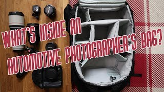 What's inside an automotive photographer's bag?