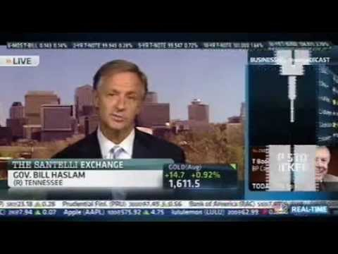Gov. Bill Haslam on CNBC with Rick Santelli