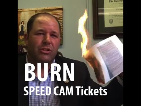TN State Rep Andy Holt BURNS his Speed Cam Ticket