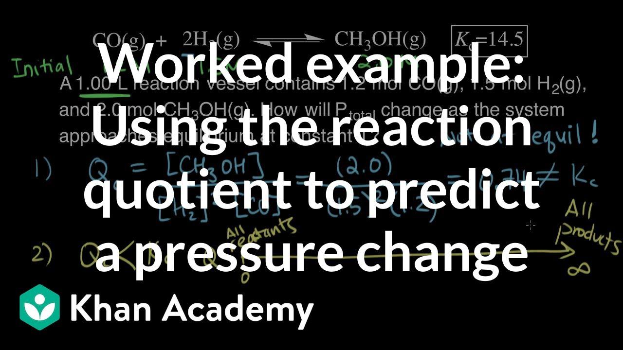 Equilibrium chemistry examples