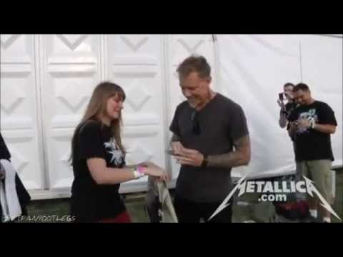 Metallica - Meet And Greet with James [Warsaw May 10, 2012] HD