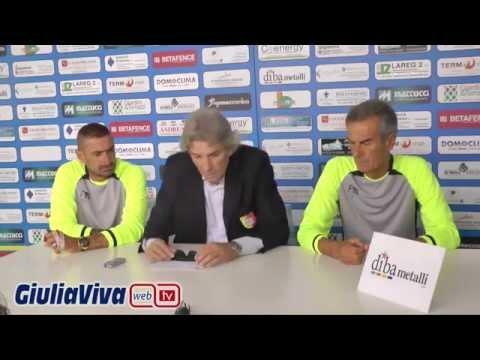 Conferenza stampa di presentazione del nuovo allenatore del Giulianova Calcio Francesco Giorgini