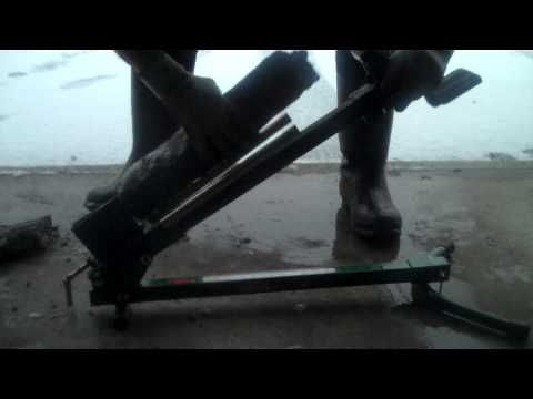Foot Powered Manual Log Splitter