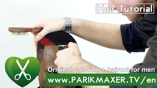 Haircut for men + original coloring . parikmaxer TV USA