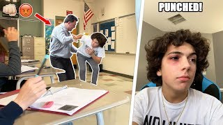 I GOT PUNCHED BY A SCHOOL TEACHER! (CAUGHT ON CAMERA)