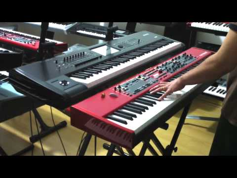 KRONOS 73 VS NORD STAGE 2 HA88 . DEMO NA CLASSIC KEYBOARDS