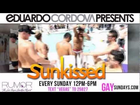 EDUARDO CORDOVA PRESENTS The 4th Season of Sunday Gay Pool Parties in Vegas!