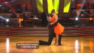 Mike 'The Situation' and Karina Smirnoff  dancing with the stars week 1