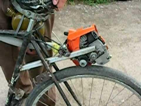 Как сделать из велосипеда мопед своими руками 36
