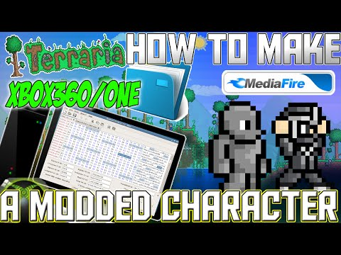 Terraria - (Xbox/Play Station) - MAKING A MODDED CHARACTER / Basic Guide