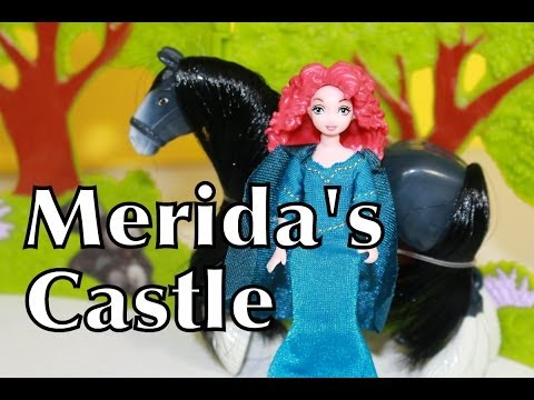 MERIDA Brave CASTLE & Forest Playset Disney Princess Toy Review