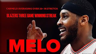 Carmelo Anthony Getting To The Bucket In Trail Blazers Run | Highlights From Three-Game Stretch