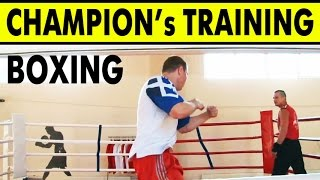 Training of Champion boxer