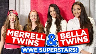 WWE Superstars for a Day ft. Bella Twins - Merrell Twins