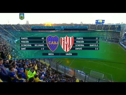 Fútbol en vivo  - Boca Jrs. - Unión Sta Fe. Fecha 19 Torneo de Primera División 2015