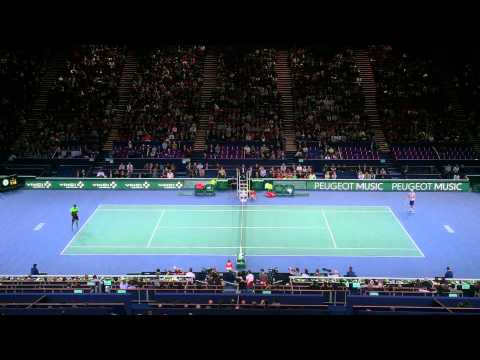 Monfils Amazing point + Match point BNP Paribas Masters ATP Bercy 2014