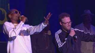Snoop Dogg and Seth Rogen perform at Hilarity for Charity