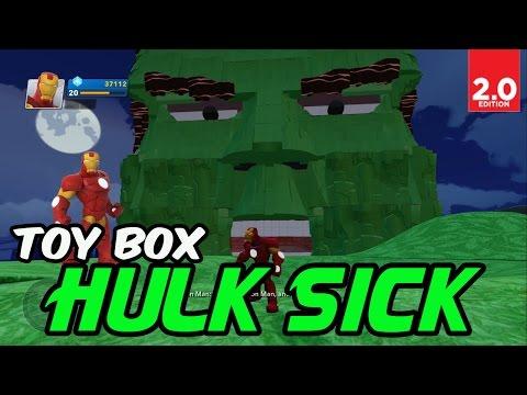 Disney Infinity 2.0: Toy Box - Hulk Sick (Marvel Super Heroes Gameplay)