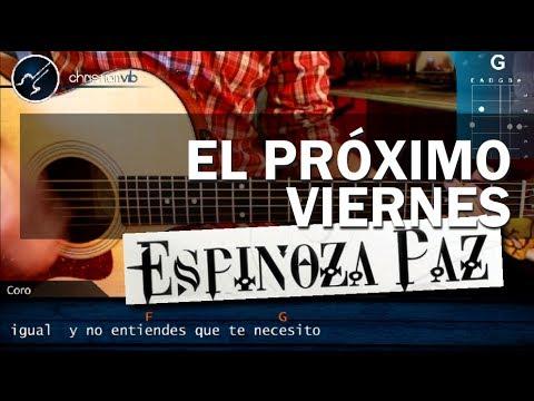 Como tocar El Proximo Viernes ESPINOZA PAZ en Guitarra Acutica HD Tutorial COMPLETO