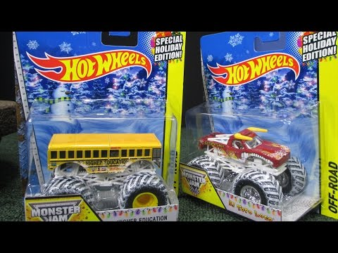 2014 Holiday Monster Jam Complete Set Collection video