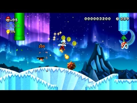 New Super Mario Bros. U -- Follow that Fireball in Prickly Goombas!