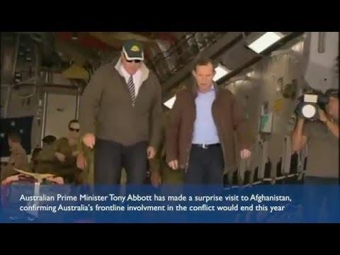 Tony Abbott tells troops Australia's Afghanistan war is over