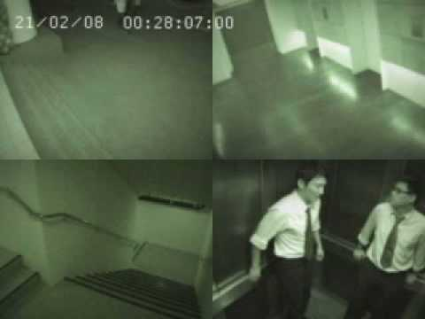 caught on CCTV in an elevator at raffles place