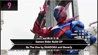 My Top Kamen Rider Openings