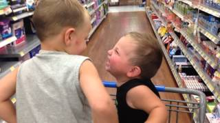 [Most adorable kid makes brother laugh like crazy] Video