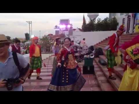 ศรีสุขนาฏกรรม ขบวนพาเหรด street show 10 Asian+Korea+Sri Lanka HD