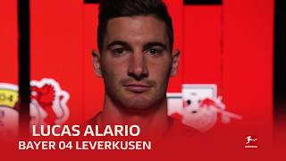 Lucas Alario of Bayer 04 Leverkusen on national duty with Lionel Messi