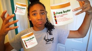 🏖Cantu Shea Butter Leave in Conditioning Repair Cream FIRST IMPRESSION// Natural 3c Curly Hair