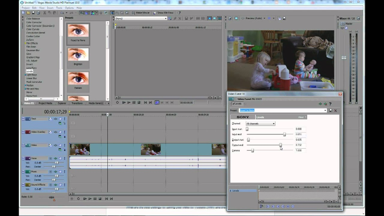 How to use the Sony vegas photo slideshow tutorial