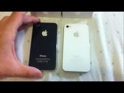 Apple iPhone4 white vs iPhone4 black