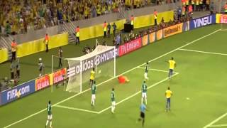 Neymar dribbling e assist bellissimo!!! Confederations Cup - Brasile - Messico