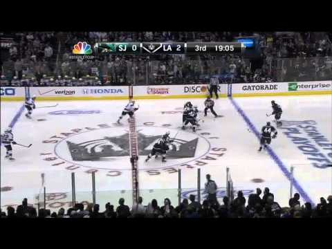 Slava Voynov wrister goal 2-0 May 23 2013 SJ Sharks vs LA Kings NHL Hockey