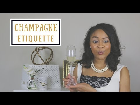 How To Elegantly Drink Champagne | Champagne Etiquette | How To Be A Lady